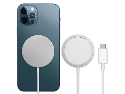 Безжично зарядно - Induction Charger QI Fast Charge 15W Iphone 12 Mini / 12 / 12 Pro / 12 Pro Max
